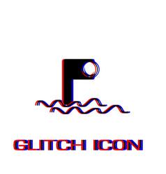 Periscope icon flat vector
