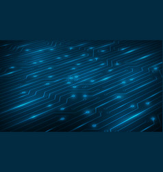 Perspective blue abstract circuit bord technology vector