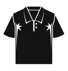 Polo tshirt icon simple style vector