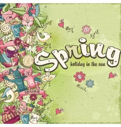 Postcard dedicated to spring and mood vector