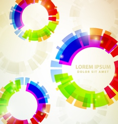 Rainbow abstracts vector