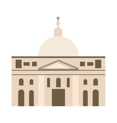 roman construction classic isolated icon vector image