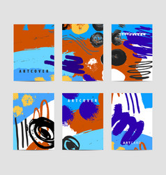 Set of artistic creative cards use for vector
