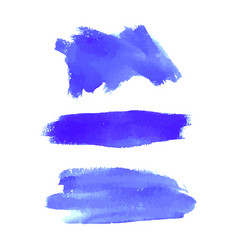 Set of navy blue watercolor backgrounds vector