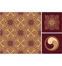set oriental design elements vector image