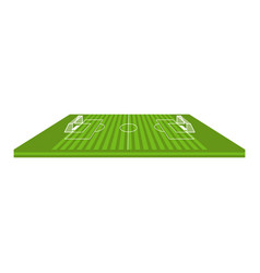 side view of a soccer field vector image