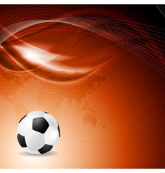 Soccer bright background with abstract waves vector image