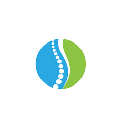 spine diagnostics symbol logo template vector image