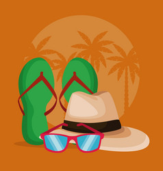 summer and beach accesories vector image