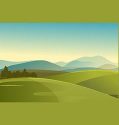 summer landscape meadow field vector image