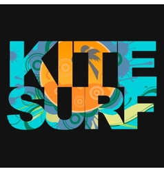 Surfer typography t-shirt graphics vector image