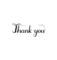 Thank you inscription calligraphy style vector image