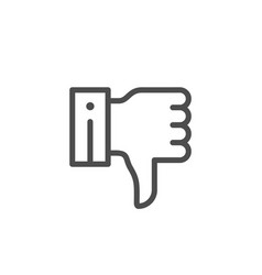 Thumb down line icon vector
