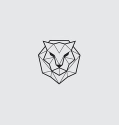 Tiger line logo simple vector