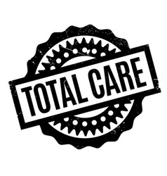 Total care rubber stamp vector