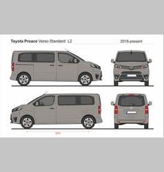 Toyota proace verso standard van l2 2016-present vector