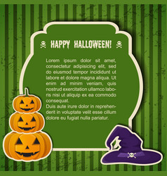 traditional happy halloween festive poster vector image