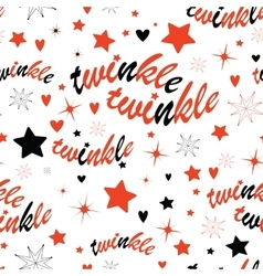 twinkle stars seamless pattern vector image