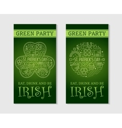 Two flyers for St Patricks day vector