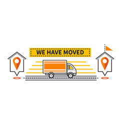We have moved icon change address location vector