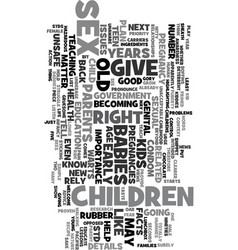 years old and pregnant text word cloud concept vector image