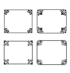decorative frames and borders backgrounds vintage vector image