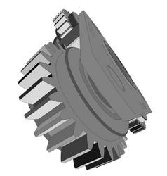 Metal cog wheel vector