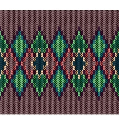 Seamless color knitted ornament pattern vector image vector image
