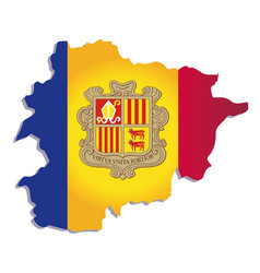 andorra flag amp map vector image vector image
