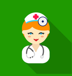 doctor flat icon for web and mobile vector image vector image