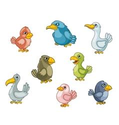 Funny cartoon birds vector image vector image