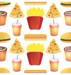fast food tile vector image