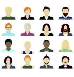 men cartoon portraits set vector image vector image