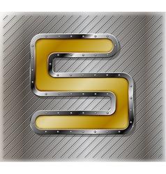 Metallic number five vector image