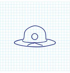 of trip symbol on summer vector image