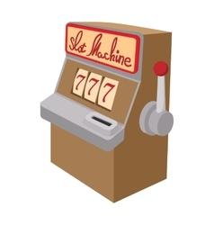 Slot machine jackpot cartoon icon vector image vector image
