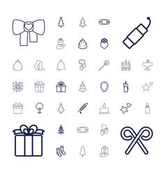 37 christmas icons vector