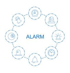 8 alarm icons vector