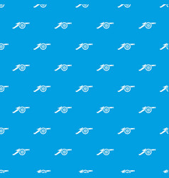 automatic gun pattern seamless blue vector image