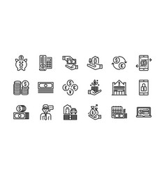 Banking and finance icons set 2 vector