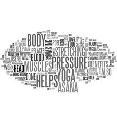 benefits of padangusthasana text word cloud vector image