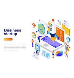 business startup modern flat design isometric vector image