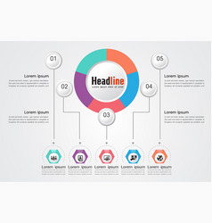 Business timeline organization road map vector