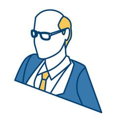 businessman profile 3d vector image