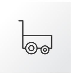 Carry wagon icon symbol premium quality isolated vector