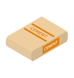 Cement bag isometric iconcartoon vector