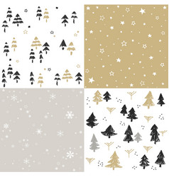 Christmas patten set and vector