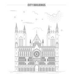 City buildings graphic template Nidarsdom vector