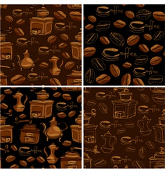 Coffee handdraw set seaml 380 vector