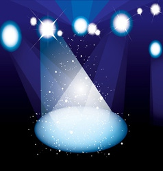 concert spotlight vector image